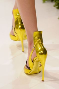 Christian Dior at Couture Spring 2013 - StyleBistro Me Too Shoes, Heeled Boots, Shoe Boots, Women's Shoes, Fashion Shoes, Fashion Accessories, Killer Heels, Beautiful Shoes, Yellow