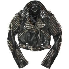 Arrow Black Leather Studded Spiked Biker Moto Jacket 7071 (2 015 AUD) ❤ liked on Polyvore featuring outerwear, jackets, rider jacket, moto biker jacket, moto jacket, spike motorcycle jacket and studded leather moto jacket