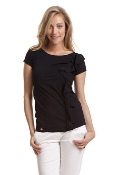 T-shirt con rouches e strass | Verysimple.it http://shop.verysimple.it/detail.asp?codmarca=VSD=VP13-100