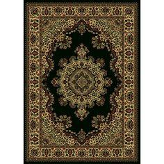 Admire Home Living Caroline Medale Oriental Rug (7'9x11') (Black), Beige, Size 7'9 x 11'
