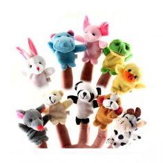 10PCS Puppet Finger Dolls&Stuffed Toys Cartoon Gift