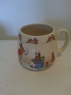 Vintage Royal Doulton Bunnykins mug family circa 1930s http://stores.ebay.com.au/lifestylehomelivinganddecor