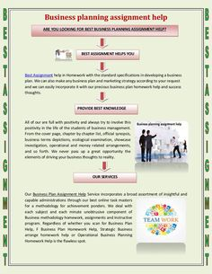 """""""BUSINESS PLANNING ASSIGNMENT HELP"""" published by """"assignmentbest09"""" on @edocr"""