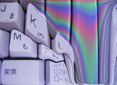 #Keyboard dissolves into #digitalVideo #rainbow