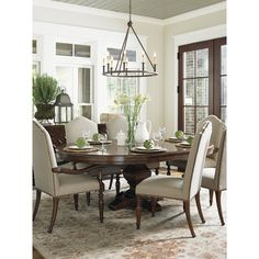 Round Dining Table For 8 With Lazy Susan Dining Room