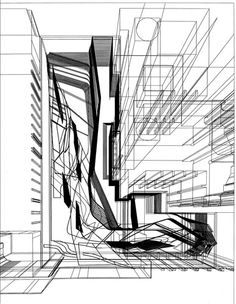 Zaha Hadid Architects Sketch of the Museum for the Royal Collection in Madrid.