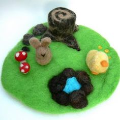needle felted playscape tutorial   other needle felt tutorials & crafts