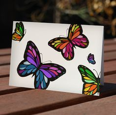 Items similar to Butterfly blank cards - thank you, blank, note cards, multi-color (set of on Etsy Indian Artist, Butterfly Cards, Love Drawings, Blank Cards, Note Cards, Card Making, Arts And Crafts, Greeting Cards, Etsy Shop
