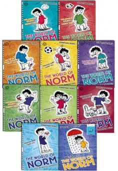 The World of Norm Collection of 10 Books by Jonathan Meres  #WorldOfNorm #Norm #Book #ChildrensBook #BooksForKids  http://www.snazal.com/the-world-of-norm-collection-jonathan-meres-10-books-set--DEALMAN-U5-Norm-10Bks.html