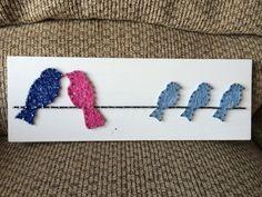 CUSTOM Bird Family String Art Made to Order Wedding door KiwiStrings