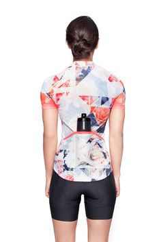 GeoFloral Print Jersey – MACHINES FOR FREEDOM Cycling Shorts b49cfde54