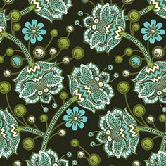 The Birds And the Bees by Tula Pink for Free Spirit - Bees Knees - Forest - FQ - Fat Quarter - Cotton Quilt Fabric