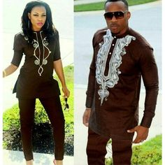 2019 African Couple Dress African Suits For Women And Men Riche Embroidery Design Dashiki Shirt Pant Set Outfit Suit Clothes African Dresses For Women, African Print Dresses, African Fashion Dresses, African Attire, African Wear, African Women, African Suits, African Clothes, Ankara Fashion