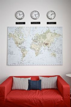 fun way to display a map of where i've been and the times of my favorite places; Amsterdamn, Paris, Sweden, Denmark, NC