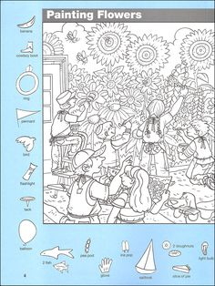 prints full page Hidden Object Puzzles, Hidden Picture Puzzles, Hidden Objects, Hidden Pictures Printables, Printable Pictures, School Coloring Pages, Colouring Pages, Picture Boards, Find Picture