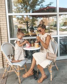 mommy & daughter date, jumpsuit, lace up sandals Mother Daughter Photos, Mother Daughter Outfits, Mommy And Me Outfits, Future Daughter, Cute Family, Baby Family, Family Goals, Family Pics, Future Maman