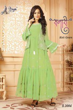 aryadress,maharani gown,designfull gown,fancy woman gown | Arya Dress Maker Latest Gown Styles, Western Kurtis, Digital Print, Lahenga, Salwar Suits, Dressmaking, Retail, Fancy, Gowns