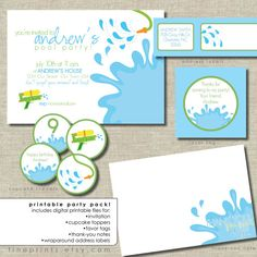 splash printable party package including splash by FinePrints, $35.00