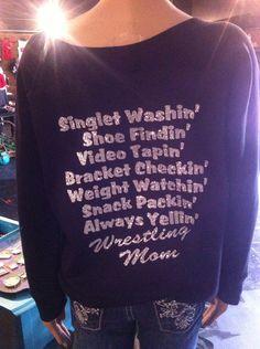 Wrestling mom custom shirt by Rocknmamadesigns on Etsy