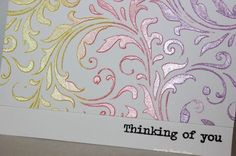 4 cards using one stencil by Tim Holtz and embossing paste