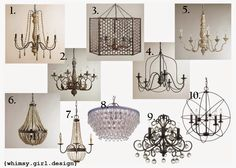whimsy girl: Friday Finds: {Chandeliers under $200}