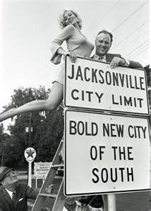 Interesting shot of our mayor Hans Tanzler with 'friend'...when the city and county consolidated...my father was JSO officer then in early 70s