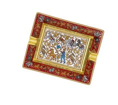 Hermes - Red & Gold Ashtray