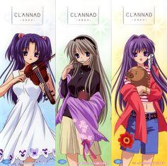 Key (Studio), Clannad, Kotomi Ichinose, Tomoyo Sakagami, Kyou Fujibayashi