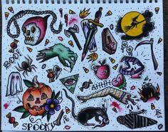 halloween tattoo -kinda vintage, kinda...gross