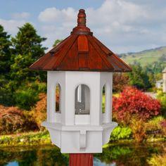 Handcrafted Bird feeder, Bird Feeder, Wooden Bird Feeder, Shake Roof Feeder, Posted Birdfeeder, Gazebo Feeder