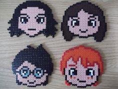 Set of perler bead coasters Harry Potter by ~capricornc5 on deviantART