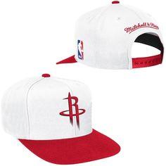 best sneakers 01d8e d8d73 Mitchell   Ness Houston Rockets White Current XL Logo 2 Tone Adjustable Hat  Houston Rockets Hat