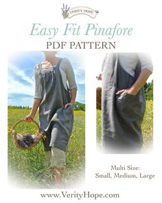Easy Fit womens pinafore dress sewing by VerityHopesWardrobe