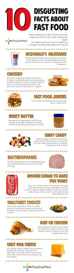 """10 Disgusting Facts About Fast Food"" #infographic"