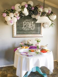 My Name Is Snickerdoodle: Baby Shower Classy Ballon Garland Decor