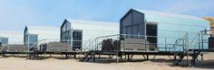 Slaapzand - Strandslaaphuisjes op Domburg strand in Zeeland