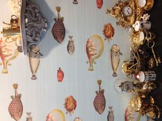 Fornasetti II Acquario by Cole & Son. Chelsea Harbour Design Centre showroom.
