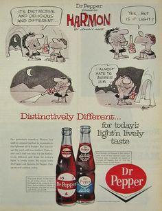 1964 Dr. Pepper Ad ~ Johnny Hart, Harmon