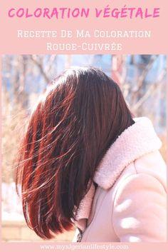 Recette complète pour obtenir des reflets rouge-cuivrés avec une coloration végétale 100% naturelle au henné d'Algérie. #colorationvegetale #coloration #naturel #reflet #rouge #cuivré #henné #henna #cheveux #soin