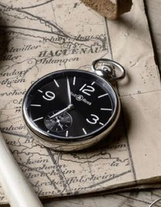 A nicely executed modern pocket watch by Bell Ross Amazing Watches, Beautiful Watches, Cool Watches, Watches For Men, Modern Pocket Watch, Bell Ross, Luxury Watches, Just For You, Pocket Watches