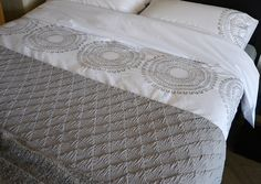 Embroidered cotton bedding from Natural Bed Company: http://www.naturalbedcompany.co.uk/product-category/bedding/natural-cotton-bedding/