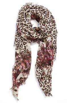 'Panthera' Cashmere & Silk Scarf