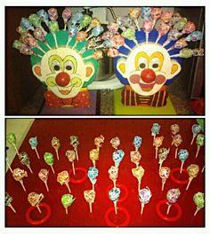 Pick a sucker clown game & ring toss game