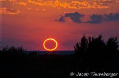 """""""L'Anello di Fuoco""""... Bellissima immagine dell'Eclissi anulare di Sole, fotografata nel nord del Gail, TX, il 20 Maggio.."""
