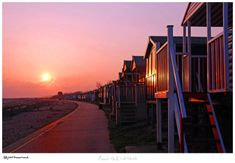 Beach Huts & a Whitstable Sunset Whitstable Beach, Whitstable Kent, South East England, Kent England, Beach Huts, Day Off, British History, Sunrises, Beautiful Landscapes