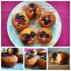 Konyhamesék: Habkönnyű gyümölcsös muffin (cukor- és gluténmentes) Cukor, Muffin, Breakfast, Food, Morning Coffee, Muffins, Meal, Essen, Hoods