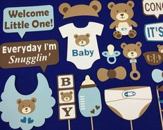 Teddy Bear Theme LARGE Baby Shower Party Package  Blue &