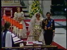 Royal Wedding Day Marriage Ceremony for Prince Charles & Lady Diana, 1981.