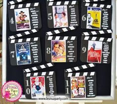 Seating Plan temático Cine Clásico - Old Hollywood seating plan movie themed