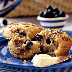 Blueberry-Cinnamon Muffins - Fresh Blueberry Recipes - Southern Living